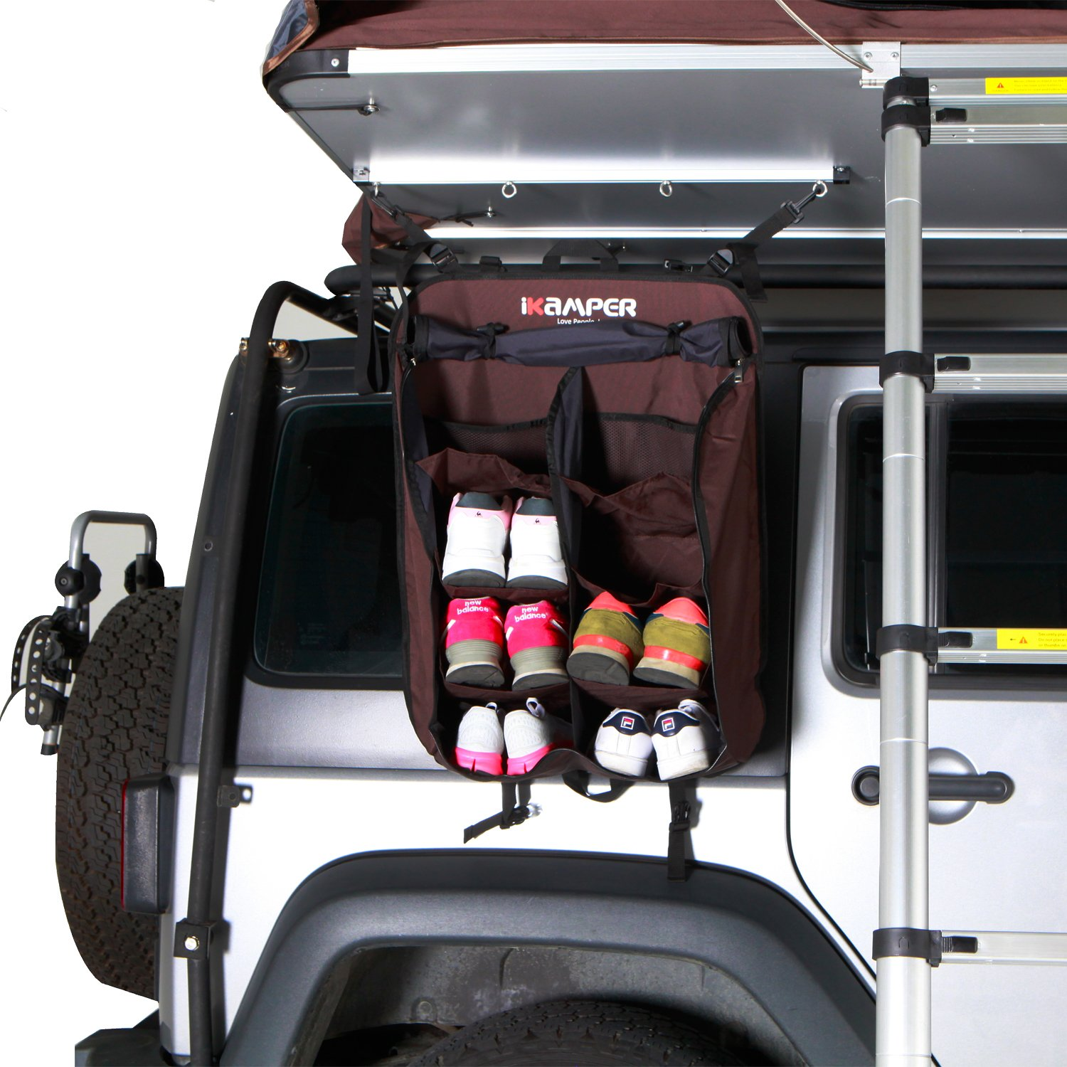 skycamp rooftop tent shoe rack