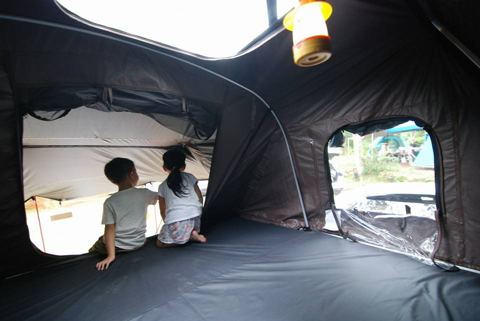 skycamp rooftop tent inside