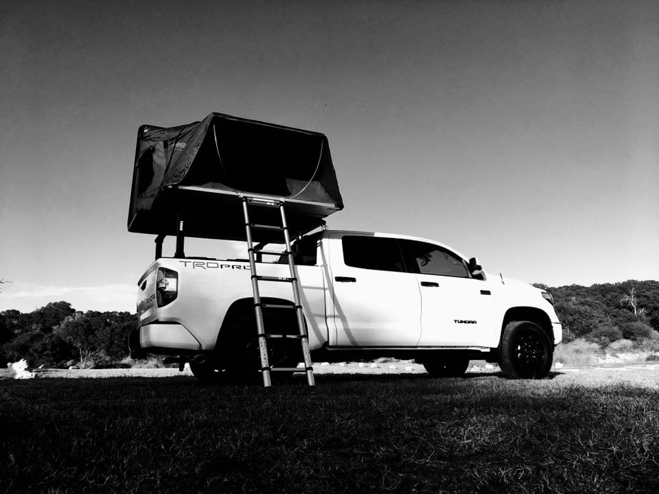 skycamp rooftop tent on truck bed
