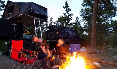 family camping fire skycamp rooftop tent overland