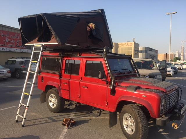skycamp rooftop tent defender 90