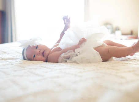 In Home Newborn Session with baby Lily