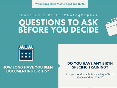 Questions to Ask Before Booking a Birth Photographer