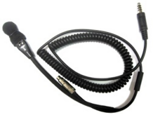IMSA HELMET MIC W/ 3.5 MM ADAPTER AND COILED CORD