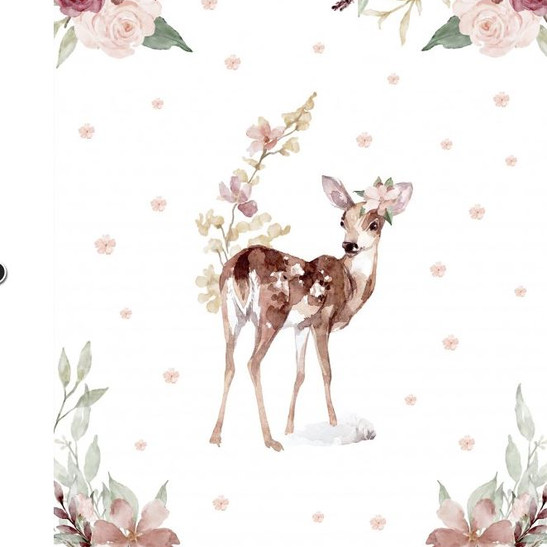 Biche et fleurs.JPG