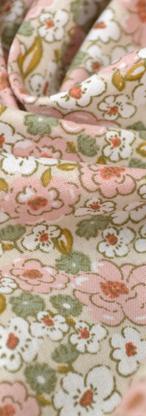 63 - Petites fleurs moutarde sauge rose