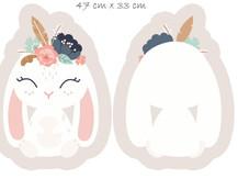Coussin Tanuki - Lapin blanc - (Animaux