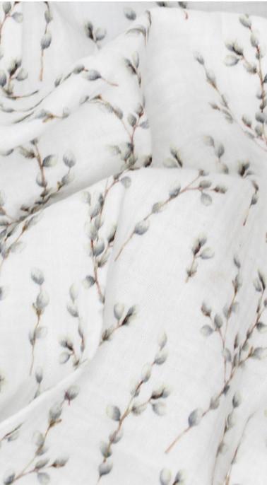 Gaze fleurs de coton