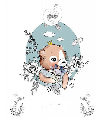 Couverture grand motif (ourson)