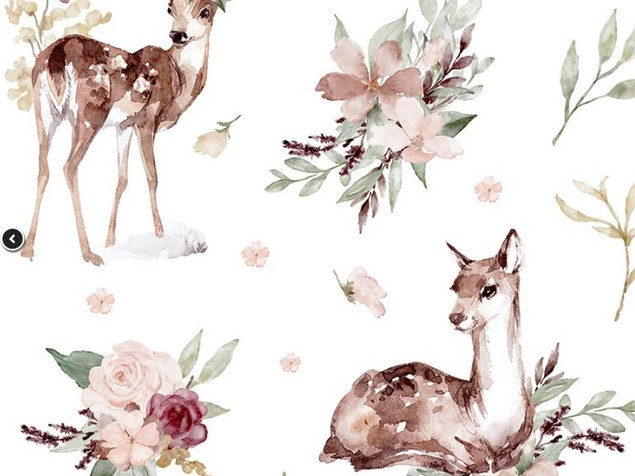 4 - Biches et fleurs