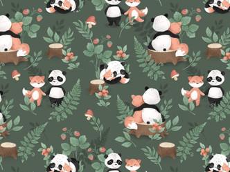 Panda et lapin copain