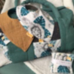 sac à langer Chihiro gaze de coton bavoi