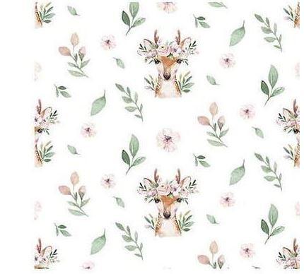 Chevreuil courroné fleurs
