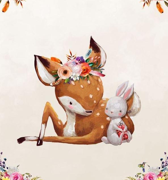 Faon lapin et fleurs.JPG