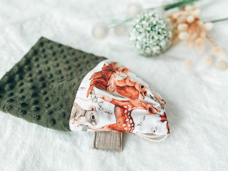 Pochon Tissu minky et coton