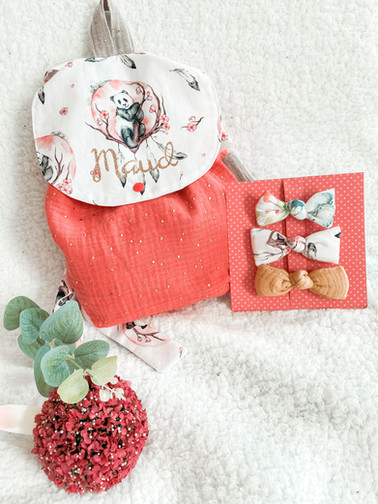Sac maternelle Zaraki + barretes