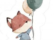Coussin Tanuki - )Renard et ballons.JPG