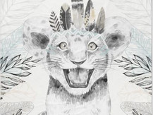 Lionceau + feuilles (uniquement Taille 1