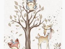 Arbre et bébé animaux