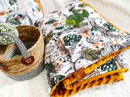 Couverture Savane et minky Chei tea