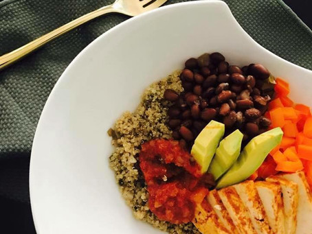 Mexican(ish) Vegan Protein Bowl