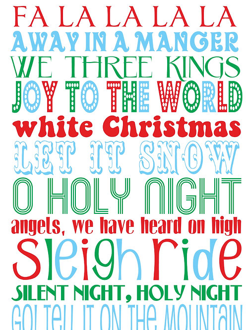 Holiday Songs Christmas Cards