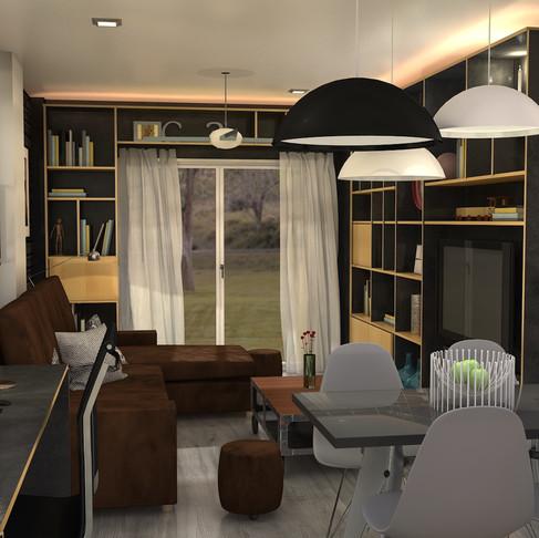¿ Salón , comedor y despacho en un ambiente de 20m2? AQUI TIENES EL RESULTADO