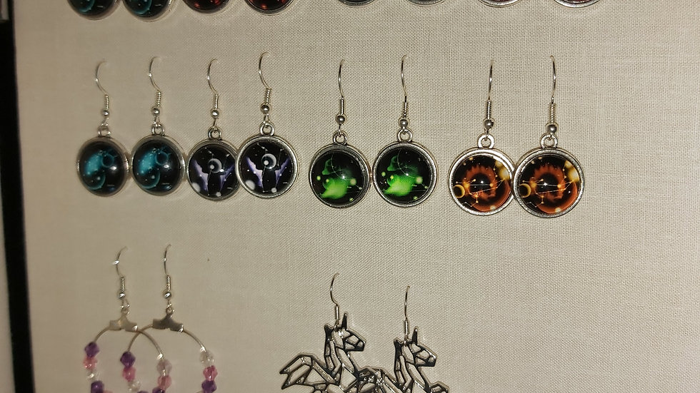 Handmade drop earrings (pairs)