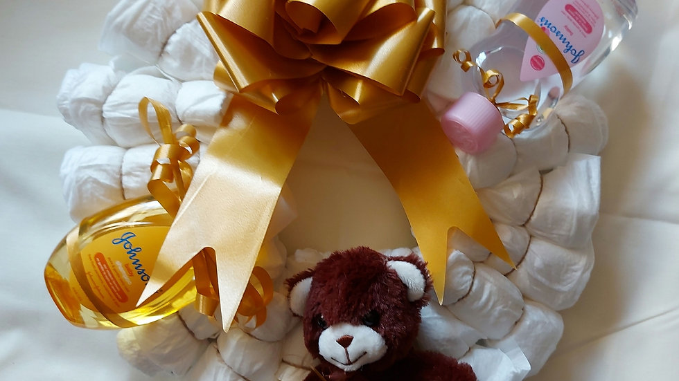 Baby Nappy wreaths