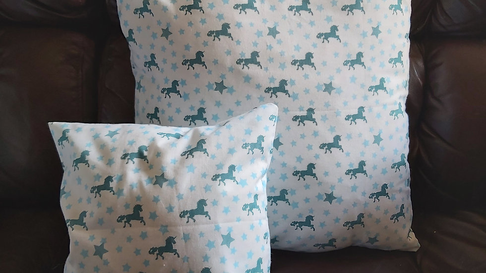 Unicorn cushions! Fully removable covers, fully machine washable