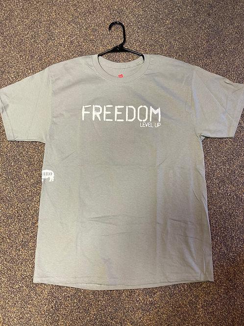 """Level Up """"FREEDOM"""" Beefy Unisex Tees"""