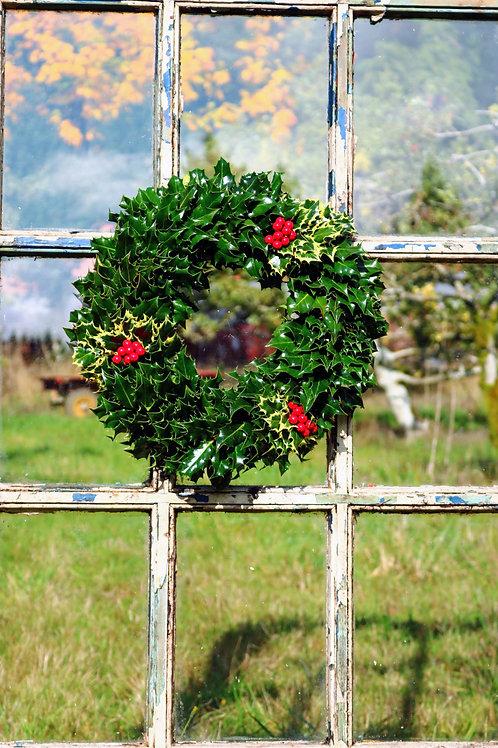 Green Holly Combo Wreath