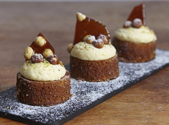 Little Spiced carrot mini cakes topped w