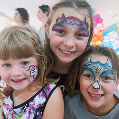 Unicorn, fairy crown and triceratops