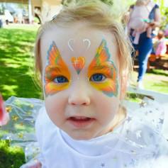 Pastel rainbow butterfly