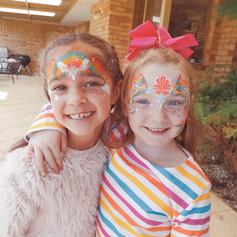 Rainbow and mermaid crowns
