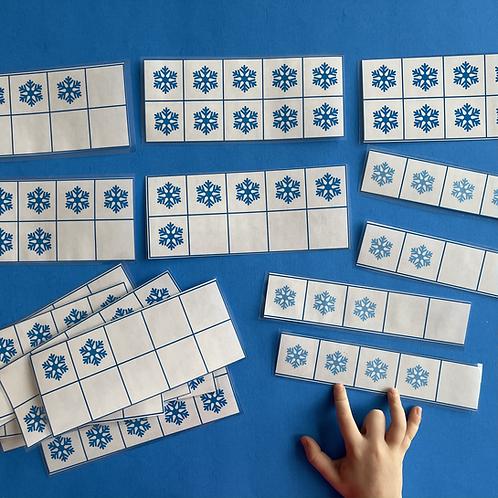 Snowflake Ten Frame Cards