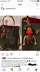 Blackface dolls that were made by high -end fashion brand PRADA