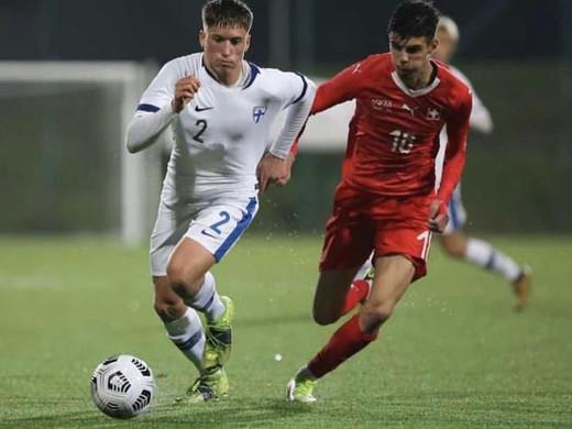 Kevin Krasniqi im Einsatz für unsere U-17 Nati