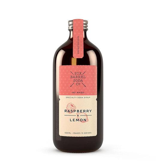 Raspberry & Lemon Syrup, Six Barrel Soda Co.