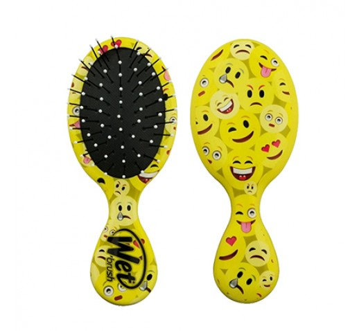 Wet Brush, Happy Hair, Mini Detangle Brush. Emoji.