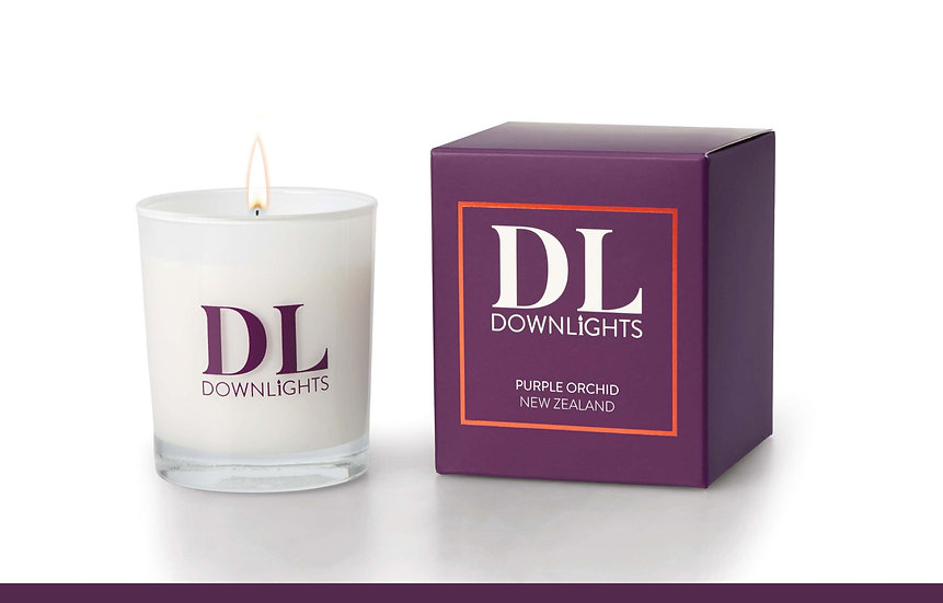 Purple Orchid Classic Candle