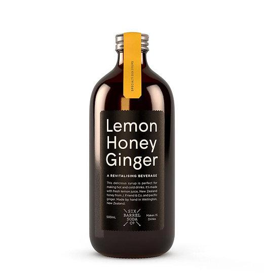 Lemon, Honey & Ginger syrup, Six Barrel Soda co.