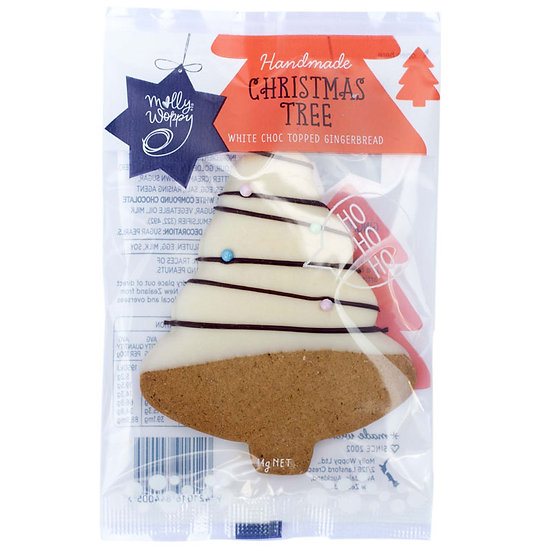 White Choc Topped Gingerbread Christmas Tree