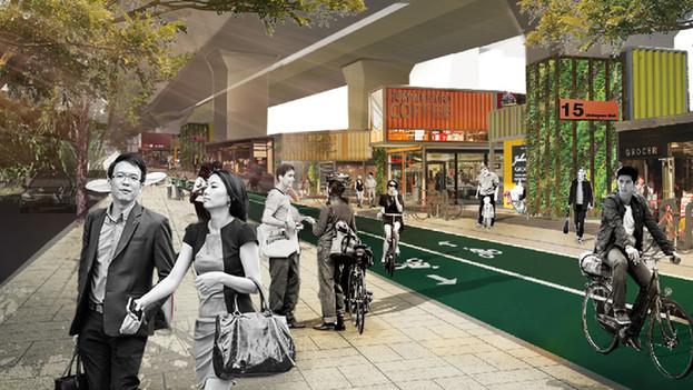 โครงการพัฒนาพื้นที่ใต้ทางด่วน (Bangkok Under-Utilized Space)