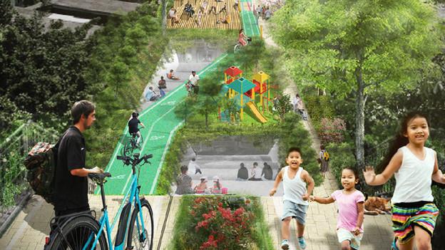 โครงการสะพานเขียว 2 สวน (Bangkok Green Bridge)