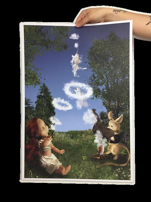 A2 Poster Print - Smoke Signals
