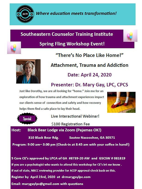 """""""There's No Place Like Home!"""" Virtual Session"""