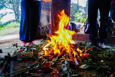 Cerimonia Maya del Fuoco per la Celebrazione del SUK'UL UPAM RI Q'IJ, l'Equinozio di Primavera.