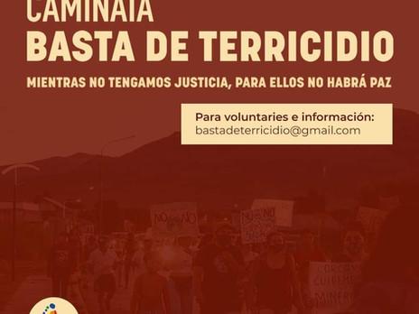 CAMMINATA: #BastaDeTerricidio. Convocazione del Movimiento de Mujeres Indigenas por el buen vivir.